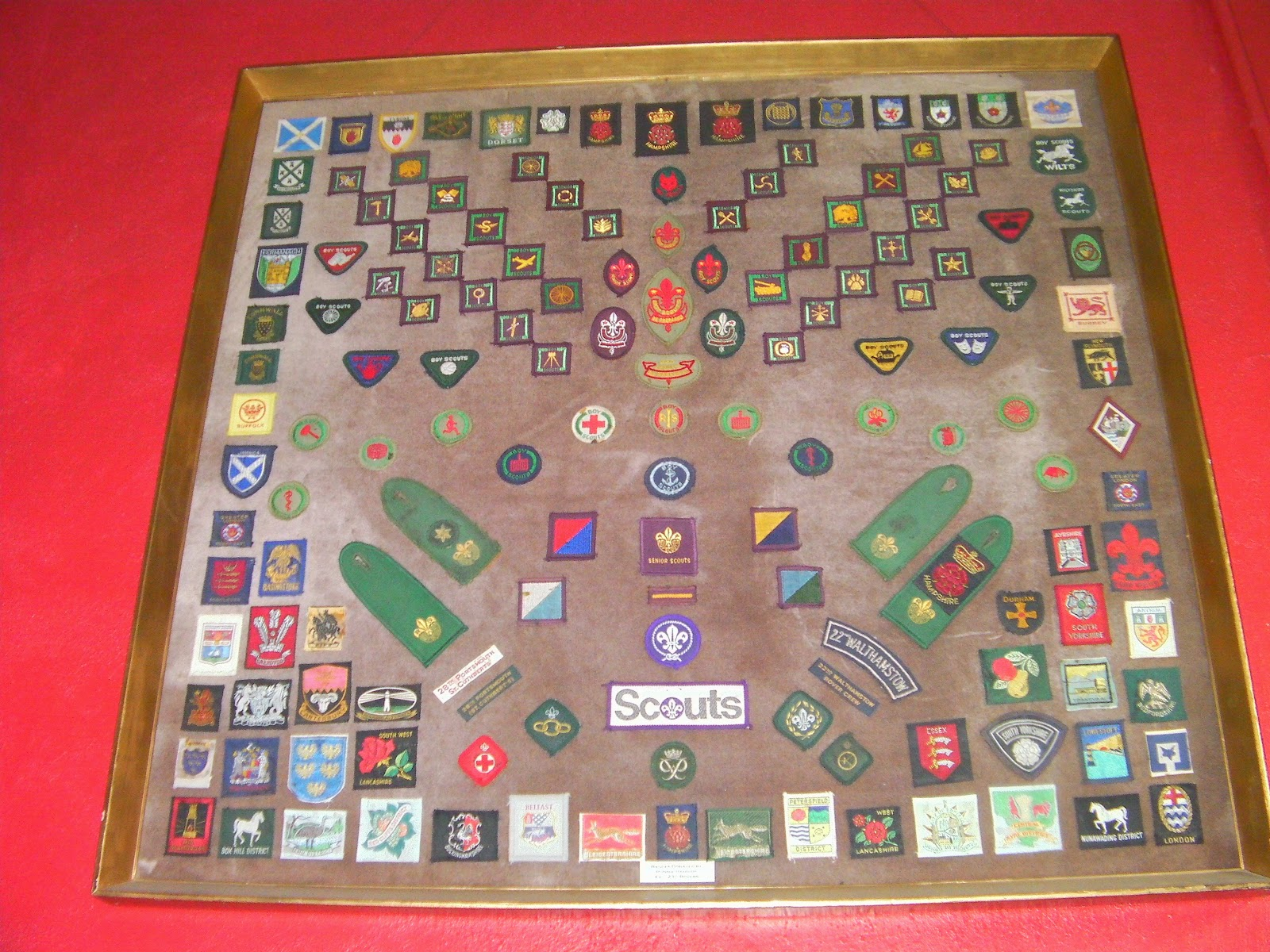 hilsea scouts hut badges historic