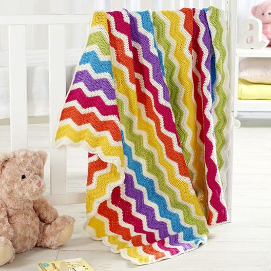 Marvel Soft Chevron Baby Blanket