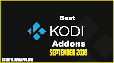 Best Kodi Addons September 2016
