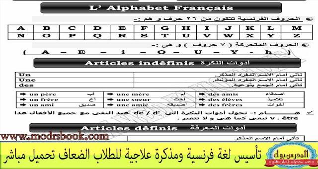 تأسيس لغة فرنسية من البداية للنهاية
