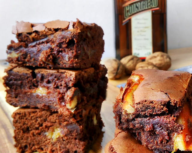 brownie nueces y naranja