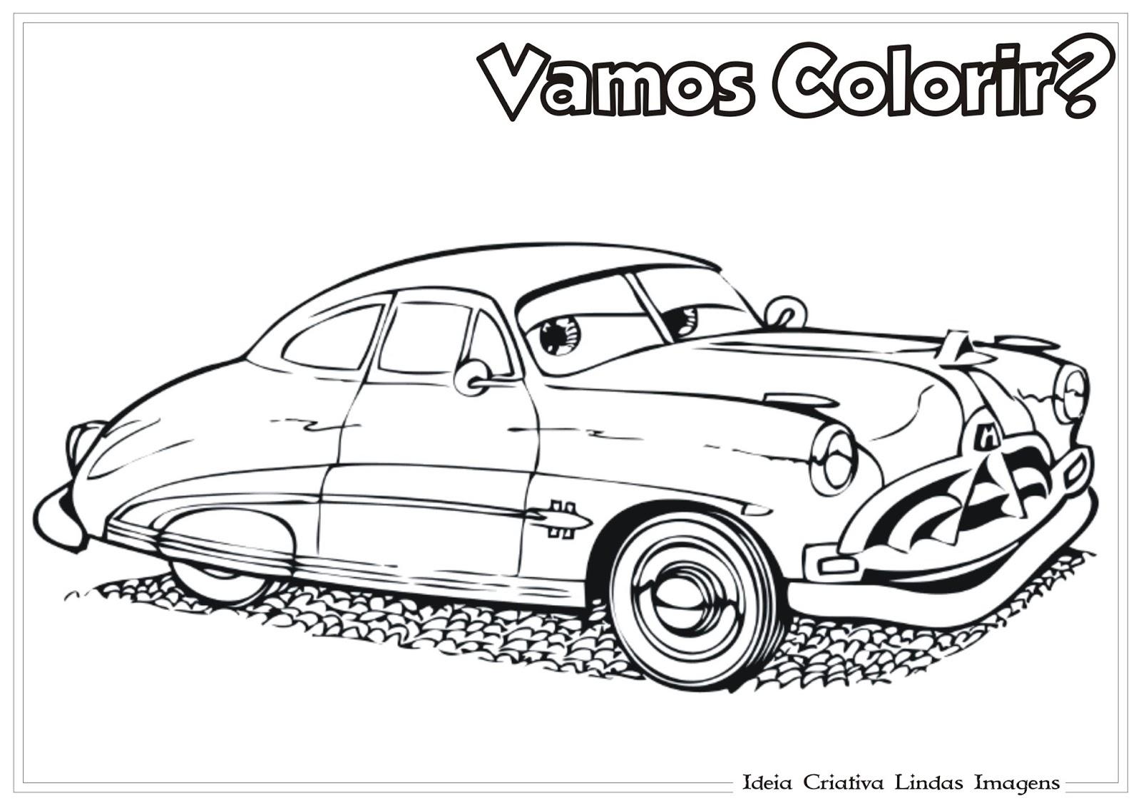 Desenho Carros Da Disney Doc Hudson Para Colorir