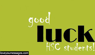 hsc good luck messages