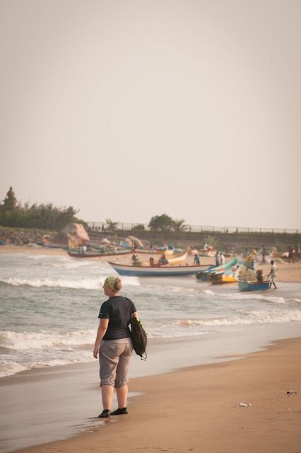 Mahabalipuram Beach, Tamil Nadu; India