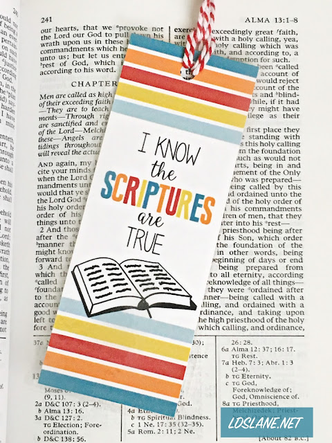 Primary LDS 2016 Theme Bookmark