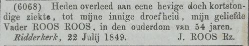 Krantenbericht uit 1849