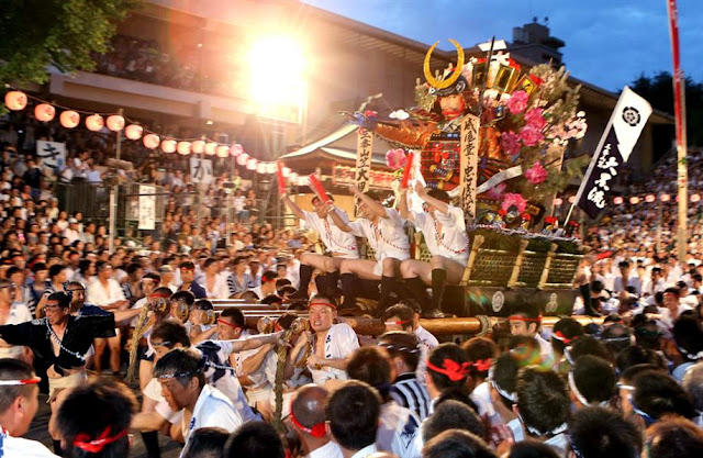 Hakata Gion Yamagasa (parade, dance and music), Fukuoka Pref.