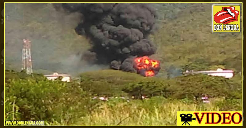 Evacuan la planta de llenado de combustible de Guatire por explosión