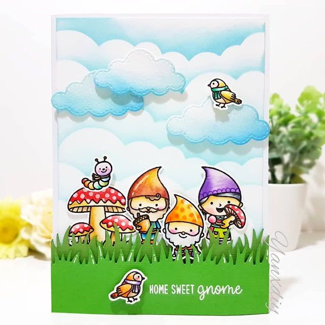 Sunny Studio Stamps: Home Sweet Gnome Customer Card Share by Yan X Diy