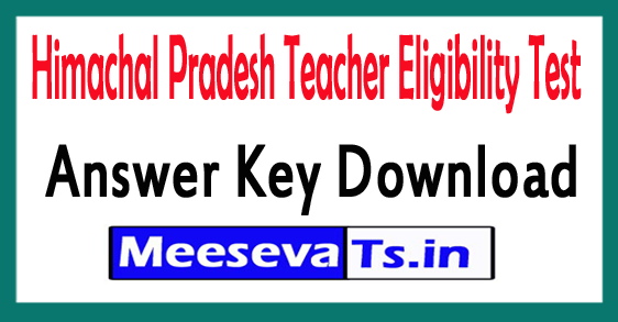 Himachal Pradesh TET Answer Key Download 2018