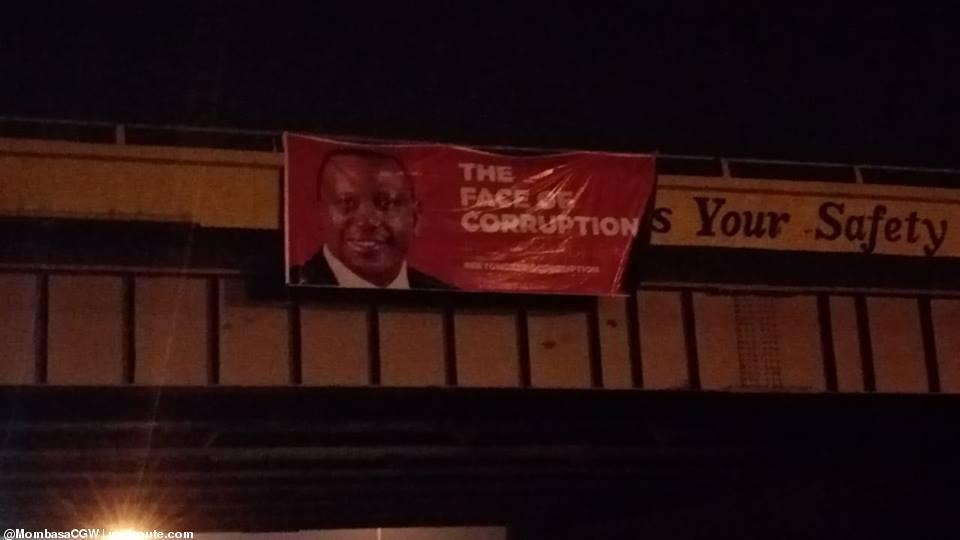 baner%2B2 - Banners of UHURU and RUTO calling them the real faces of corruption hanged across Nairobi as revolution beckons(PHOTOs).