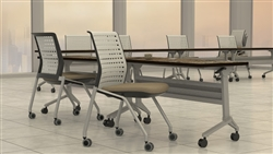 Mayline Flip-N-Go Tables with Valore Chairs
