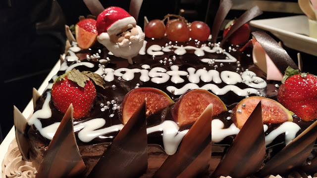 Christmas cake in Hotels buffet