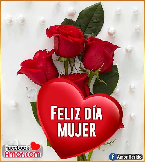feliz día mujer flores