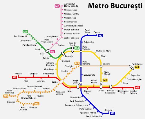 Bucharest subway map