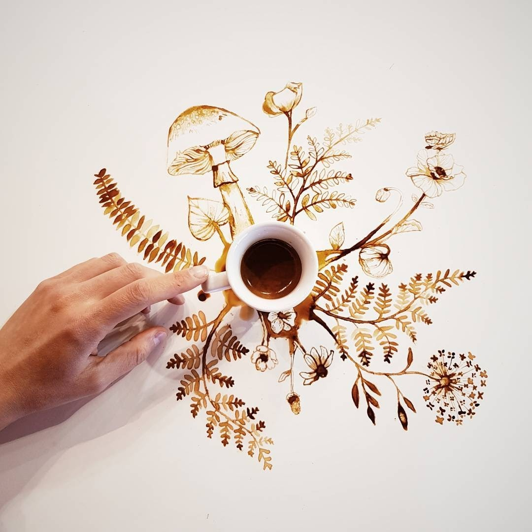 11-Mushrooms-and-Flowers-Giulia-Bernardelli-Coffee-Cup-Paintings-or-Drawings-www-designstack-co