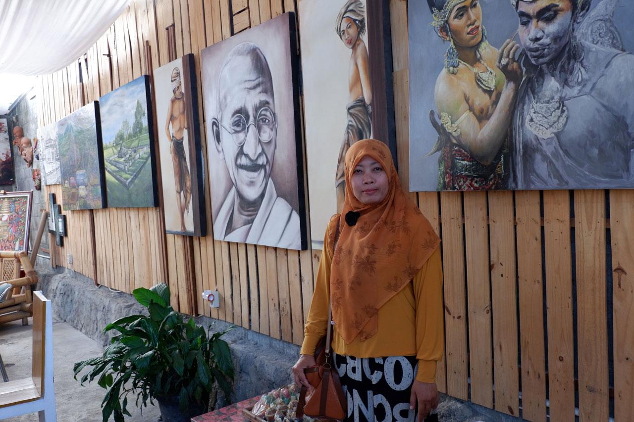 Di Galery Seni Lukis Rakatan Sleman Yogyakarta