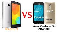 Kali ini admin kembali membahas perbandingan hape Xiaomi dengan brand lain yang memiliki  Hape Xiaomi Redmi 2 VS Asus Zenfone Go ZB450KL