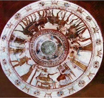 Pictura de pe tavanul mormântului de la Kazanlâk