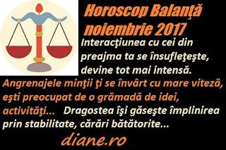 Horoscop noiembrie 2017 Balanţă