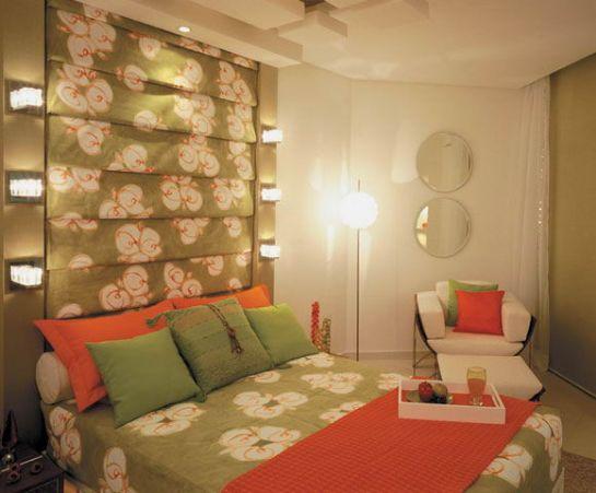 Dormitorio verde y naranja su te da mo a via www - Tv en habitacion ...