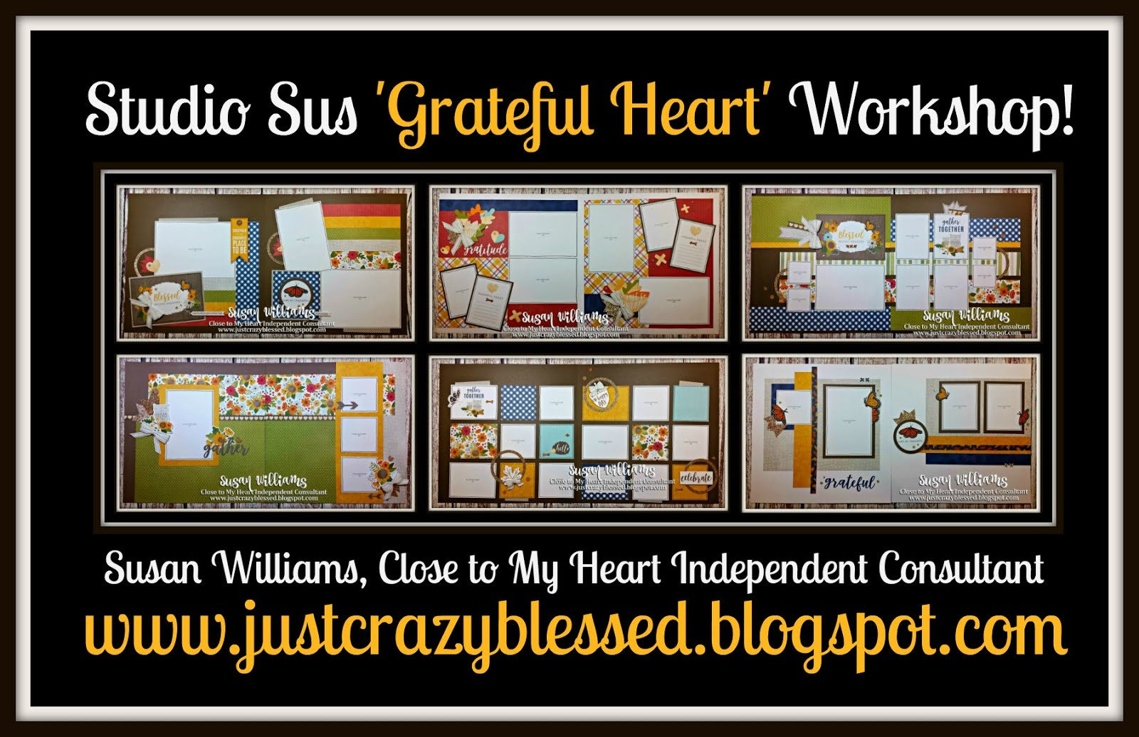 'Grateful Heart' Scrapbooking Workshop!