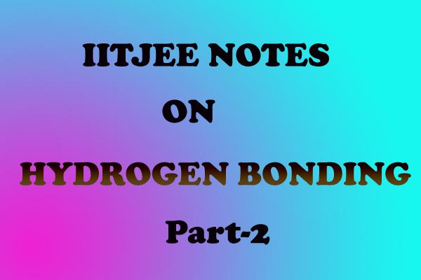 Hydrogen Bonding Notes