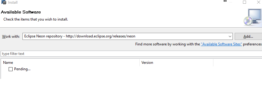 no repository found at http //download.eclipse.org/releases/mars