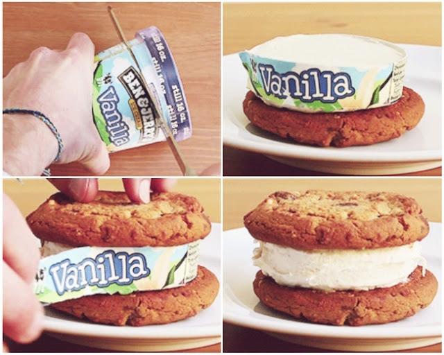 2 - Uma faca quente é a ferramenta perfeita para fazer sanduíches de sorvete.