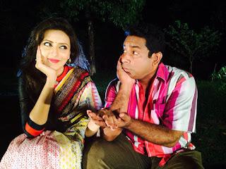 Bidya Sinha Saha Mim With Bangladeshi Actor Mosharraf Karim