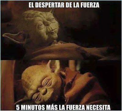 El despertar de la fuerza, cinco minutos más la fuerza necesita, Yoda, Jedi