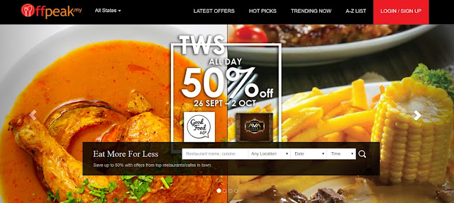 Offpeak. Get discount when you eat!