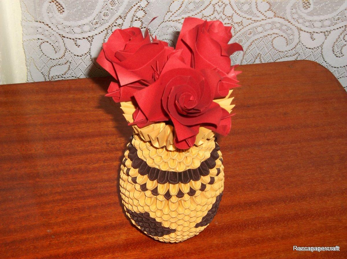 3d origami Tutorial made Lotus part 1 (Hướng dẫn làm bình hoa sen ... | 896x1200