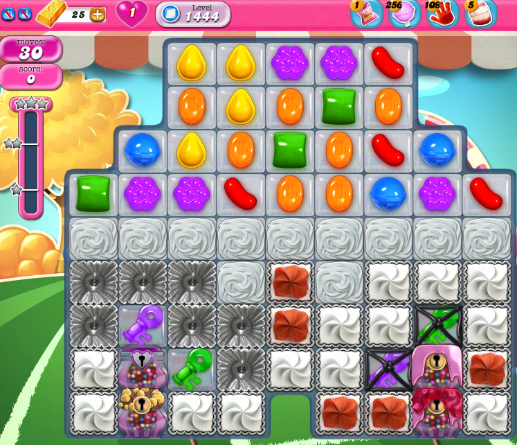 Candy Crush Saga 1444