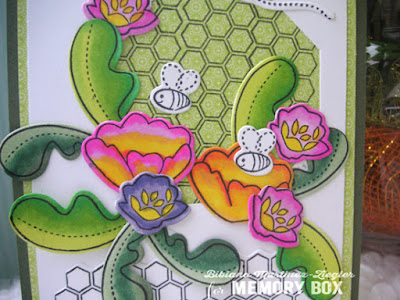 bee card with copics detail