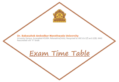 BAMU Aurangabad Time Table October 2018