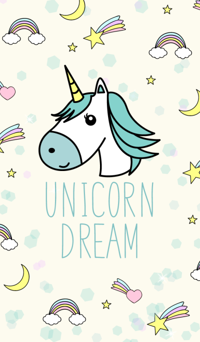 Unicorn Dream Pastel Blue