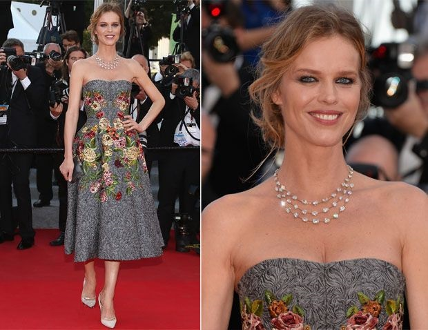 Cannes Film Festival Premiere - Eva Herzigova in Dolce and Gabbana - Two Days, One Night - Deux Jours, Une Nuit