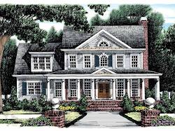 Diseños de Casas Planos Gratis: Casas Coloniales Americanas