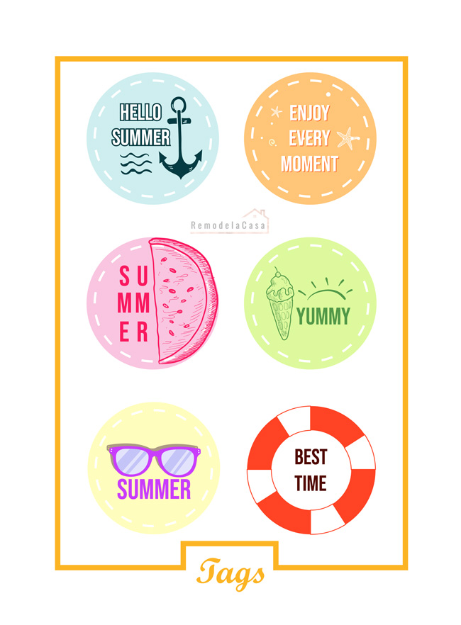 Tags - stickers - Summer