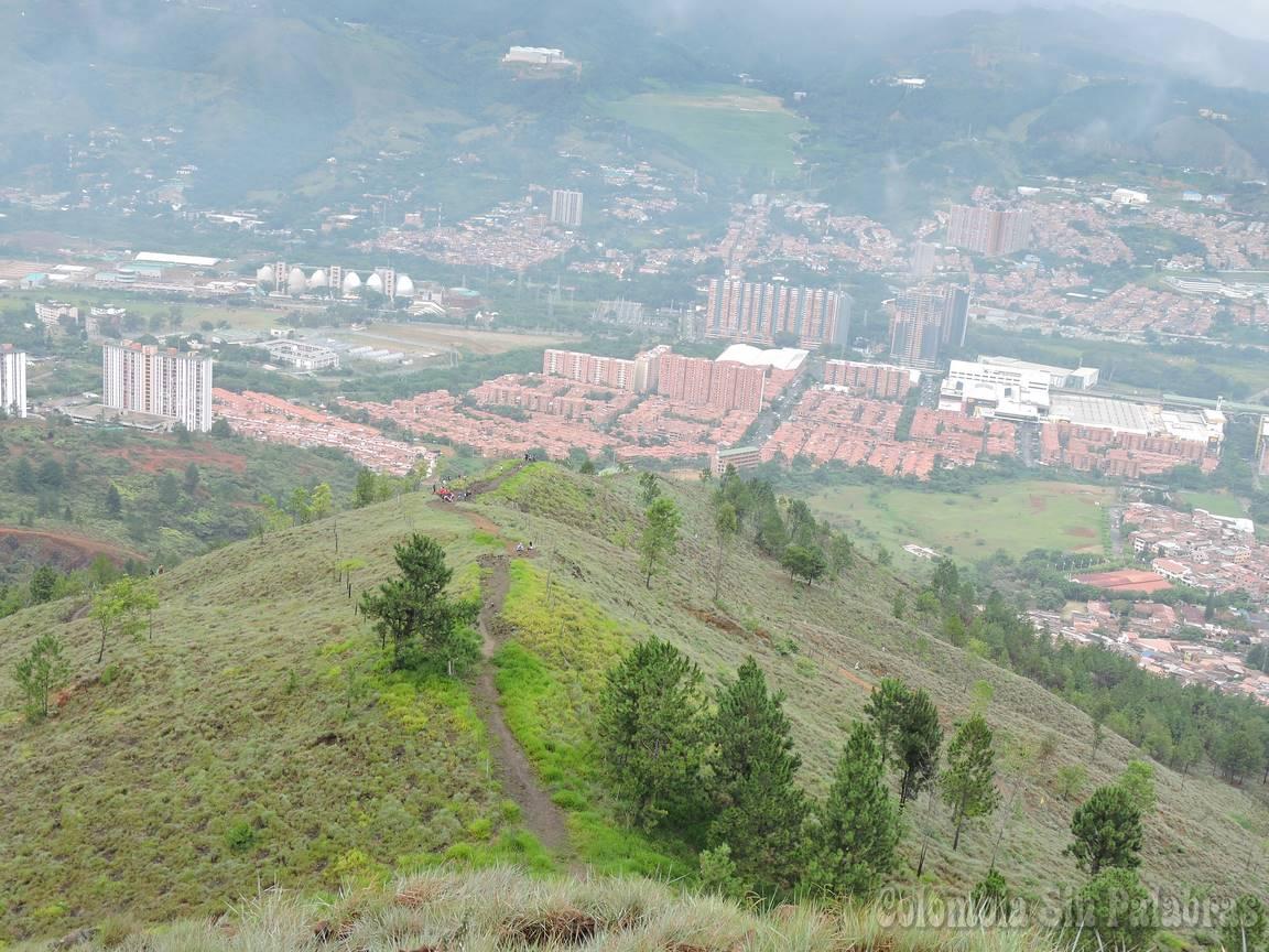 parte del valle de Aburrá visto desde el cerro quitasol