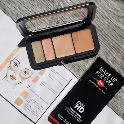 MAKE UP FOR EVER's Ultra HD Underpainting Color Correction Palette swatches