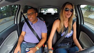 """Dudu Nobre e Ellen Jabour no """"Bate & Volta"""" - Divulgação/Band"""