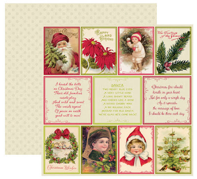 authentique classic christmas scrapbooking paper