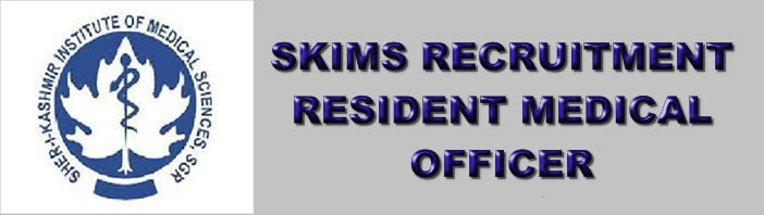 J&K SKIMS Jobs Soura Srinagar Resident Medical Officer 06 Posts Registration Process 2018