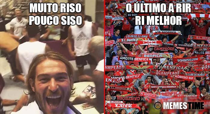 Memes Time - Encontro Benfica x Besiktas para o Grupo B da Champions League – Muito riso, pouco siso & O último a rir, ri melhor