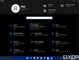 Pengaturan Windows 11 masih sama