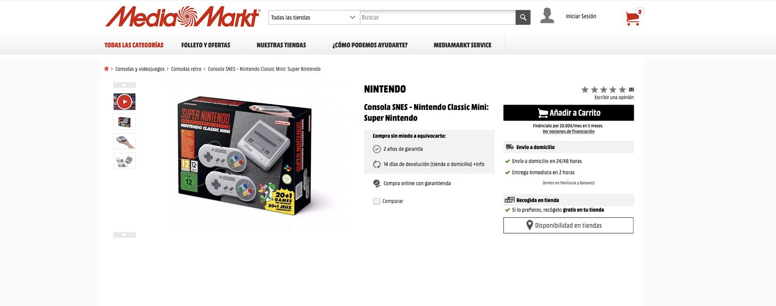Super NES Mini ha llegado, ¡y hay stock en algunos sitios!, cómprala