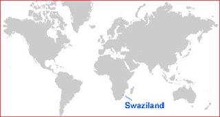 Gambar Peta letak Swaziland