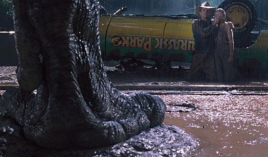 Jurassic Park - T-rex n'ao enxerga se ficar parado